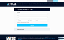 Create a Demo Account at Xtrade